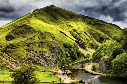 Dovedale - Thorpe Cloud, the Peak District