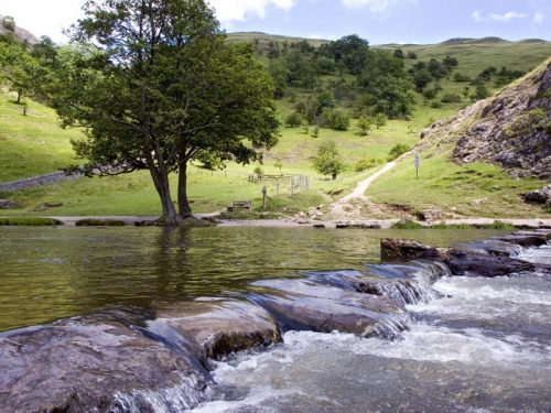 Dovedale stepping stones, Derbyshire